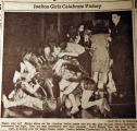 Joelton girls celebrate victory, from the Nashville Times, 1940