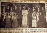 Hicks-Hill bridal party seen following wedding, from the Nashville Times, 1940