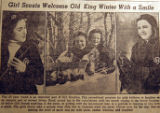 Girl Scouts welcome old king winter with a smile, from the Nashville Times, 1940