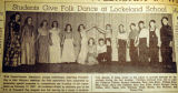 Students give folk dance at Lockeland School, from the Nashville Times, 1940