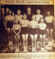 Geedville girls win Cannon County tourney, from the Nashville Times, 1940