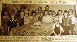 Robert Cash gives birthday party, from the Nashville Times, 1940