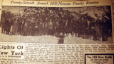 Twenty-seventh annual Hill-Newsom family reunion, from the Nashville Times, 1940