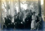 A Howe family gathering at the Bonnie Brae residence, Nashville, Tennessee, n.d.
