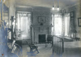 Interior bedroom and brass bed at the Bonnie Brae residence, Nashville, Tennessee, n.d.