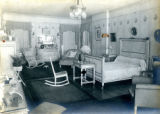 White interior of bedroom at the Bonnie Brae residence, Nashville, Tennessee, n.d.