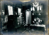 Interior view of library of the Bonnie Brae residence, Nashville, Tennessee, n.d.