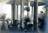 Veranda, showing detail, of the Bonnie Brae residence, Nashville, Tennessee, n.d.