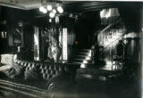 Interior view toward staircase of the Bonnie Brae residence, Nashville, Tennessee, n.d.