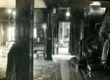 Interior hallway and staircase of the Bonnie Brae residence, Nashville, Tennessee, n.d.