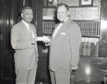 Civil Defense check presented to Nashville Mayor West by TVA, 1954