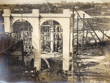 Construction of the Shelby Street Bridge, 1908 July 21