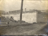 Construction of the Shelby Street Bridge, circa 1909 January 14