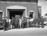 Photograph of fire hall and staff of Engine Company 11, Nashville Fire Department, Nashville,...
