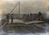Construction of the Shelby Street Bridge, 1909 February 13