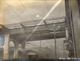 Construction of the Shelby Street Bridge, 1909 January 14