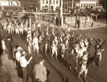 Photograph of 117th Infantry, Tennessee National Guard on parade at Legislative Plaza, Nashville,...
