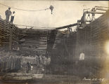 Construction of the Shelby Street Bridge, 1908 June 22