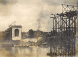 Construction of the Shelby Street Bridge, 1908 July 06