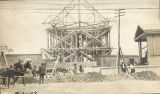 Construction of the Shelby Street Bridge, 1908 April 21