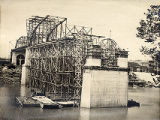 Construction of the Shelby Street Bridge, circa 1909