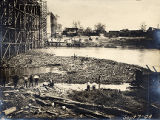 Construction of the Shelby Street Bridge, 1908 September 07