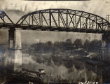 Construction of the Shelby Street Bridge, 1908 October 31