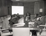 Teachers from India visit with Mayor Briley, 1964 July 17