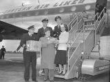 Mayor Ben West and the first flight of the Eastern Airlines Constellation airliner at Nashville...