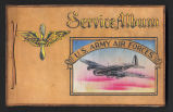 "Cover of Edward E. O'Connor's ""Service Album, U.S. Army Air Forces,"" 1943"