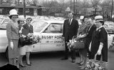 Mayor Briley with ladies at Busby Ford, Nashville, Tennessee, circa 1965