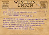Telegram to Loraine O'Connor, 1944 April 23