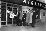 Ribbon cutting for the American Airlines office at Sixth Avenue, Nashville, Tennessee, 1958 March
