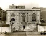 Photograph of the façade of the Carnegie Library of Nashville, circa 1933