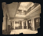 Photograph of the main hallway of the Carnegie Library of Nashville, circa 1904