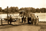 Edgefield ferry along the Cumberland River, circa 1954