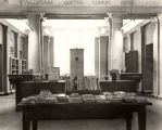 Photograph of the circulation desk of the Nashville Public Library, circa 1948