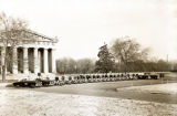 Nashville Police Department vehicles and officers at the Parthenon, circa 1950s