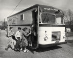 Photograph of the Nashville Public Library bookmobile, circa 1957