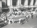 Bond sales drive in downtown Nashville by the Army, Navy, and Civic Clubs, 1942 September