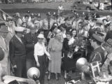 General Douglas and Jean Faircloth MacArthur and son visit Murfreesboro, Address at Middle...