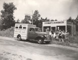 Photograph of the Nashville Public Library bookmobile, circa 1941