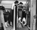 Photograph of Tom Tichenor and puppeteers performing a Christmas play at the Nashville Public...