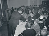 Sheriff Tom Cartwright headquarters for re-election at Noel Hotel, Nashville, Tennessee, circa...