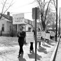 Photograph of students marching during the Freedom March on Jefferson Street, Nashville,...