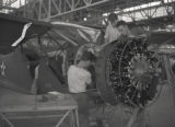 Vultee Aircraft staff working on government planes, Nashville, Tennessee, circa 1941