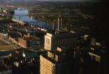 Davidson County Courthouse and the Cumberland River, Nashville, Tennessee, circa 1960s