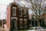 Historic brick townhouse at 1235 Sixth Avenue in, Nashville, Tennessee, circa 1968