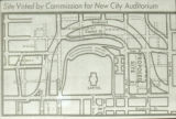 Site voted by Commission for new City Auditorium, Nashville, Tennessee, circa 1959