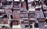 Aerial of Nashville downtown parking, circa 1970s